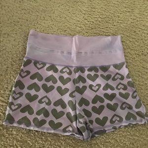 Girls cotton lounge yoga shorts